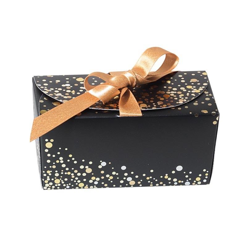 Emballage alimentaire pour artisans chocolatiers, pâtissiers ou confiseurs - Ballotin Ruban Paillettes