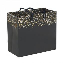 Packaging grand luxe noir et or pour les fêtes - Sac cabas Paillettes