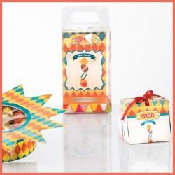 Kit Circus - Packaging ludique pour Pâques - Graphisme ambiance Cirque