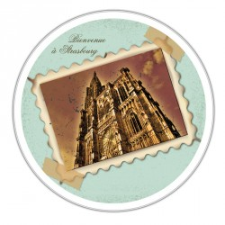 Boîte ronde métallique empilable Caméléon A-08 - Cathédrale Strasbourg