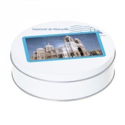 Boîte ronde métallique empilable Caméléon A-09 - Souvenir de Marseille