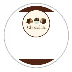 Boîte ronde métallique Caméléon B-10 - Illustration chocolats