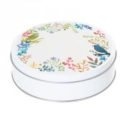 Boîte ronde métallique Caméléon C-07 - Motif Les oiseaux printaniers