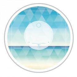 Boîte ronde métallique Caméléon D-02 - Bord de mer - Design triangles