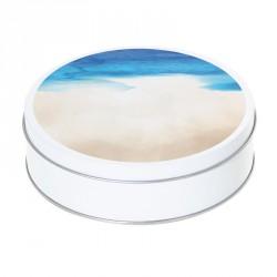 Boîte ronde métallique Caméléon D-03 - Illustration L'été à la plage