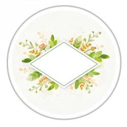 Boîte ronde métallique Caméléon D-04 - Illustration Enseigne fleurie
