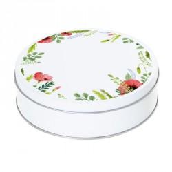 Boîte ronde métallique Caméléon D-06 - Motif Joli coquelicot Mesdames