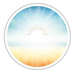 Boîte ronde métallique Caméléon D-12 - Illustration Le soleil brille !