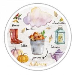 Boîte ronde métallique Caméléon E-02 - Les accessoires de l'automne