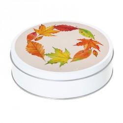 Boîte ronde métallique Caméléon E-03 - Ronde de feuilles d'automne