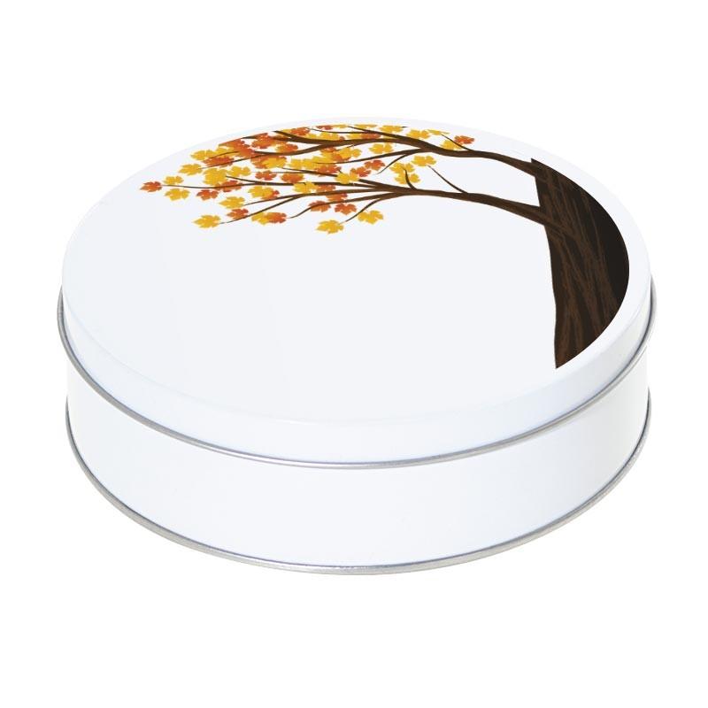 Boîte ronde métallique Caméléon E-09 - Les couleurs de l'automne
