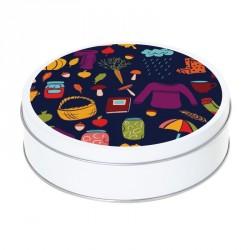Boîte ronde métallique Caméléon E-11 - Les accessoires de l'automne