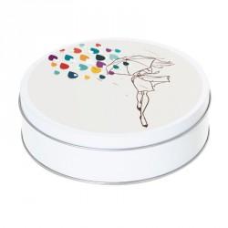 Boîte ronde métallique Caméléon E-12 - Fashionista sous la pluie