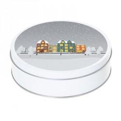 Boîte ronde métallique Caméléon F-08 - Habitations sous la neige