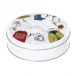 Boîte ronde métallique Caméléon B-13 - Les accessoires de l'hiver