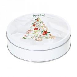 Boîte ronde métallique Caméléon G-02 - Illustration Sapin de Noël