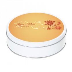 Boîte ronde métallique Caméléon G-10 - Joyeux Noël et bonne année