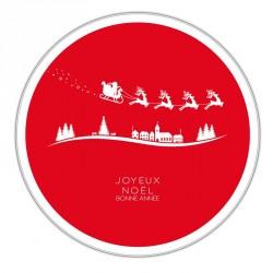 Boîte ronde métallique Caméléon G-13 - Père Noël et son traineau