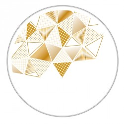 Boîte ronde métallique Caméléon H-11 - Motif gamme Embaline Rêverie
