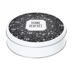 Boîte ronde métallique Caméléon I-05 - Illustration Bonne Rentrée !