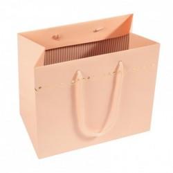 Création de Packaging de luxe - Sac cabas rose saumon Poudrée