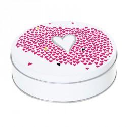 Boîte ronde métallique Caméléon I-24 - Illustration 1001 cœurs !