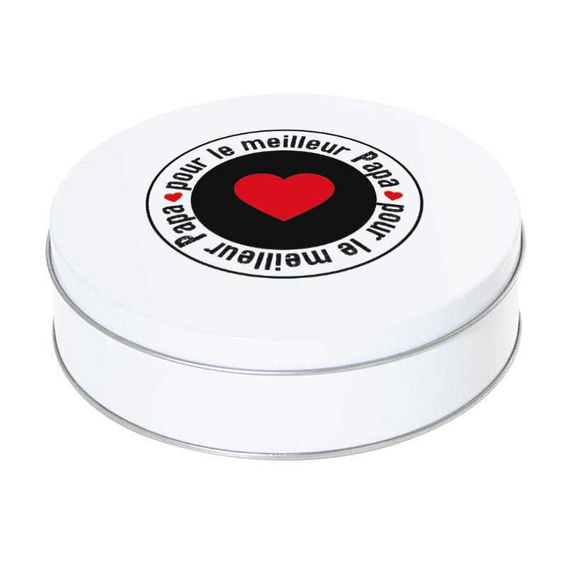 Boîte ronde métallique empilable Caméléon I-40 - Pour le meilleur papa - Fête des pères