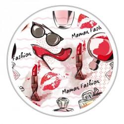 """Boîte ronde métallique Caméléon I-42 - Motif """"Maman Fashion"""" - Fêtes des Mères"""