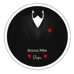 Boîte ronde métallique Caméléon I-20 - Bonne fête papa version smoking