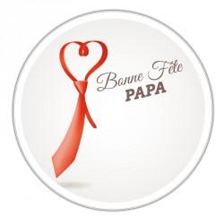 Boîte ronde métallique Caméléon I-22 - Cravate et bonne fête Papa