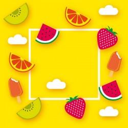 Carte Caméléon D-13 | Les rafraîchissements de l'été, glaces, fruits