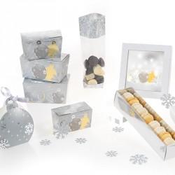 Kit Noël Argenté- Packaging alimentaire pour les fêtes de fin d'année