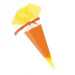 Emballage alimentaire de Pâques - Cornet Jaune et Cartonnette Orange