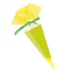 Emballage alimentaire de Pâques - Cornet Jaune et Cartonnette Verte