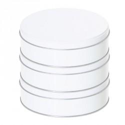 Boîte ronde métallique empilable Caméléon, personnalisable sur demande