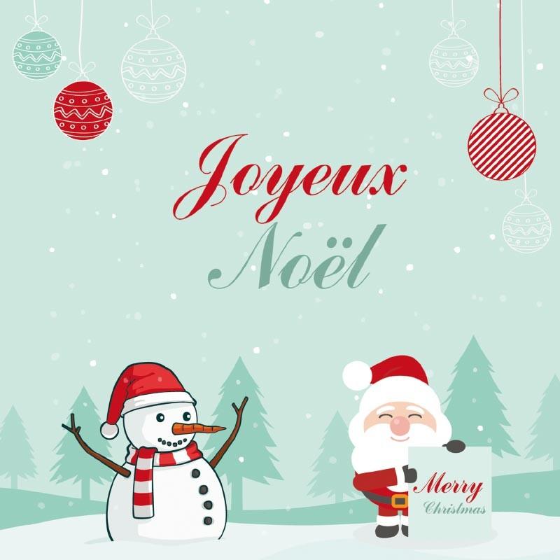 Carte Caméléon G-23   Illustration Joyeux Noël sous la neige !