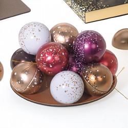 Boîtes boules métalliques - Packaging luxe chocolatiers Confiseurs