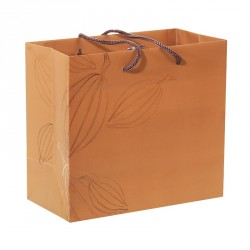Packaging de luxe avec impression cabosses cacao - Sac cabas Criollo