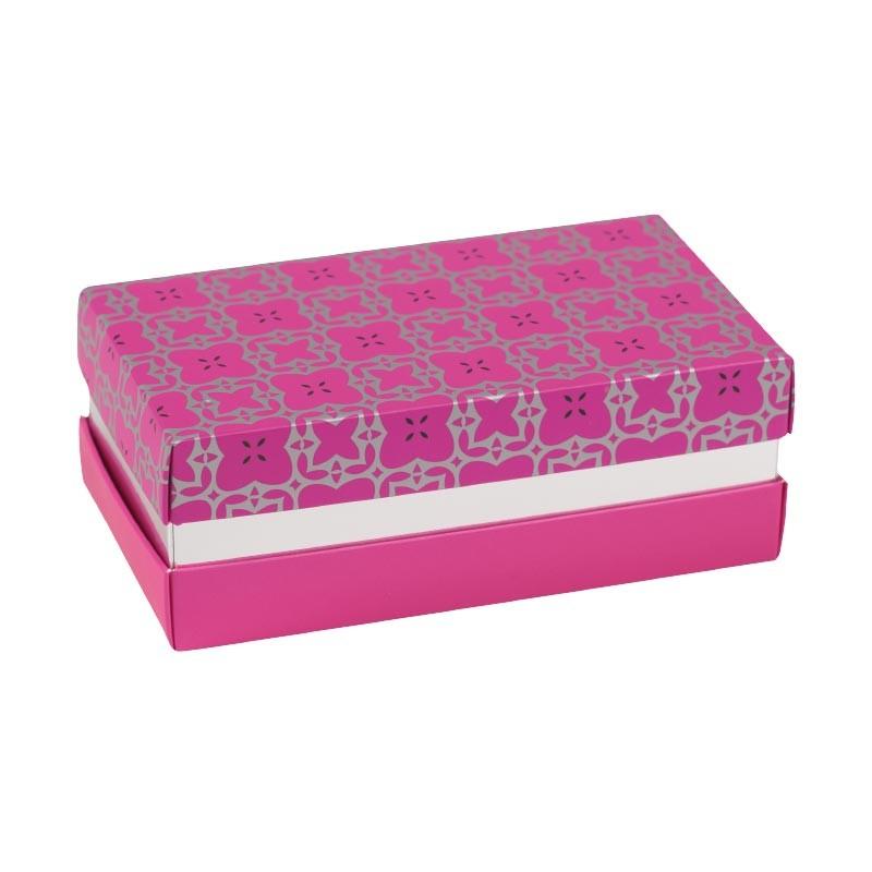 Promo Packaging - Boîte à gorge Fuchsia et Argent - Balzac Élégance