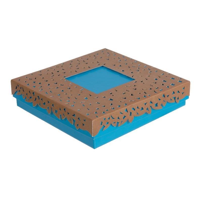 Emballage alimentaire en déstockage ! Boîte carrée Molière Curaçao