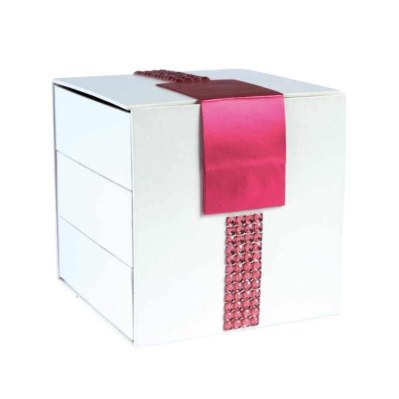 Déstockage packaging boîte cubique à compartiments - Cyrano Strass