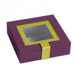 Emballage alimentaire en déstockage ! Boîte carrée Molière Oxalis