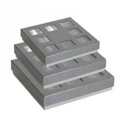Emballage alimentaire en déstockage ! Boîte carrée Molière Metallic