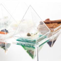 Verrines Pyramide - Présentoir transparent pour réceptions - Promotion