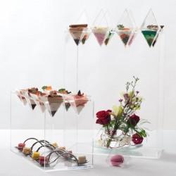 Présentoir pour Verrines Pyramide - Magnifiez vos réceptions !