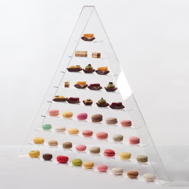 Tour Triangle - Présentoir original PVC pour macarons et miniardises
