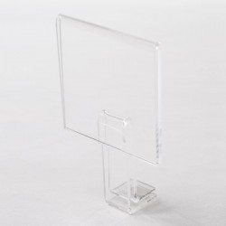 Porte prix à clipser - Présentoirs en acrylique en promo pour artisans
