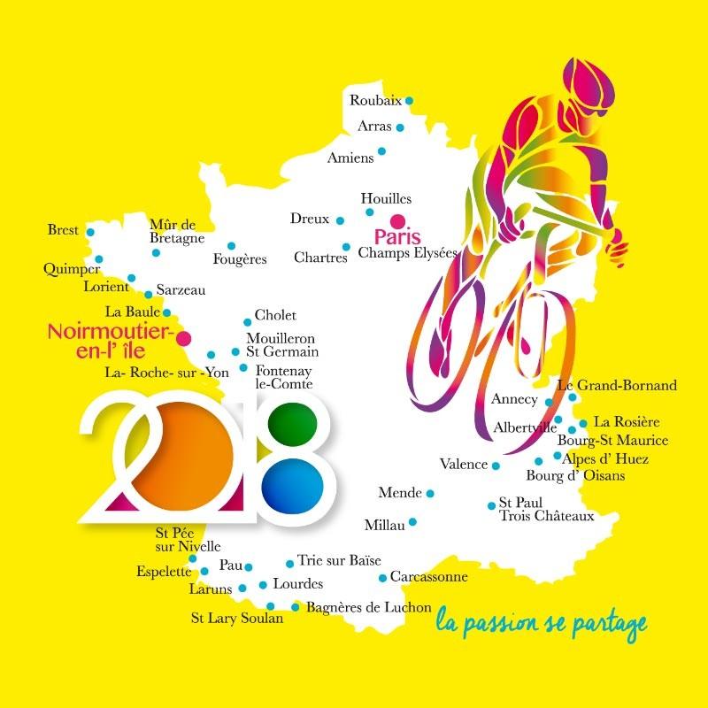 Packaging Tour de France 2018 pour Chocolatiers - Carte Caméléon I-14