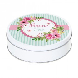 Boîte ronde métallique Caméléon I-44 pour chocolats - Fête des Mamies