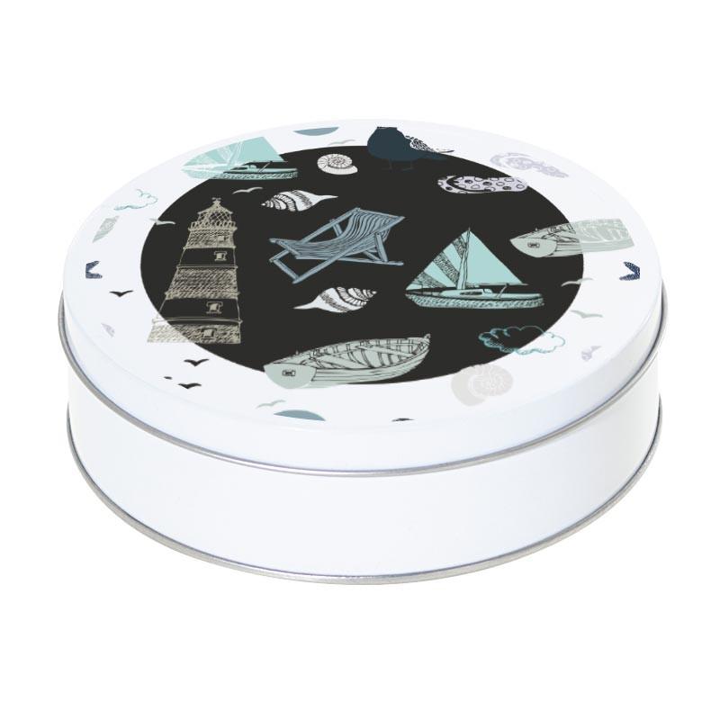 Boîte ronde métallique Caméléon D-15